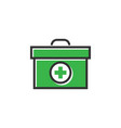 medical box icon design template isolated vector image vector image
