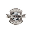 metal shield soccer logo vector image vector image