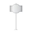 metal signpost vector image vector image