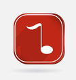 musical note Color square icon vector image