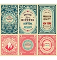 Old cards set with floral details vector image vector image