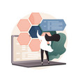 php and mysql development abstract concept vector image vector image