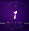 realistic one years anniversary celebration design vector image vector image
