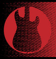 red guitar background vector image vector image