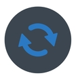 Refresh flat smooth blue colors round button vector image vector image