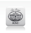 rome icon vector image vector image