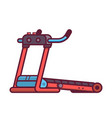 running treadmill icon vector image