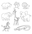 safari and jungle animals vector image vector image