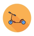 Scooter child vector image vector image
