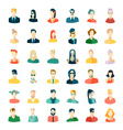 set avatars flat design vector image