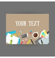 Set icons design and art on table with coffee vector image vector image