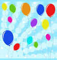 set of beautiful colored balloons with ropes vector image vector image