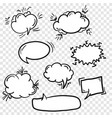 set of cute empty retro comic speech bubbles vector image