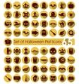 Set of halloween flat icons vector image vector image