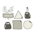 Set of hand drawn doodle labels with funny vector image vector image