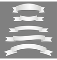 Silver Ribbons Flags vector image vector image