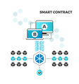 smart contracts internet block chain security and vector image vector image