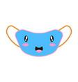 smiling medical mask concept coronavirus funny vector image vector image