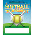 Softball Tournament Flyer vector image vector image