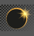 solar eclipse on transparent vector image vector image