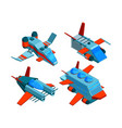 spaceships isometric space technologies cargo and vector image
