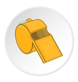 Sport whistle icon cartoon style vector image vector image