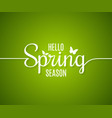 spring logo line concept hello lettering vector image