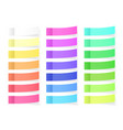 sticky paper notes with shadow effect blank color vector image vector image