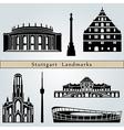 Stuttgart landmarks and monuments vector image vector image