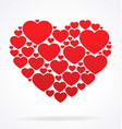 stylised cluster of valentines day hearts vector image vector image