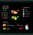 Sushi Infographics vector image