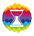 Time Rainbow Color Icon for Mobile Applications vector image