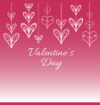 valentine s background with stylized hearts vector image vector image