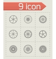 wheel icon set vector image vector image