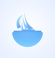 Yacht in Sea vector image vector image