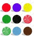 yarn balls vector image vector image