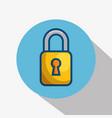 yellow padlock icon vector image