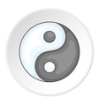 Yin Yang icon flat style vector image vector image