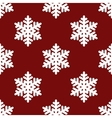 Red snowflakes seamless vector image