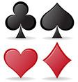 Simple design of poker symbols vector image