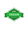 100 percent vegan product haxagonal badge vector image vector image
