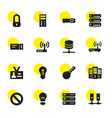 16 access icons vector image vector image