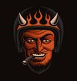 a devil biker vector image vector image