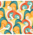 Abstract seamless swirl pattern vector image