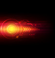 arrow automation technology abstract laser vector image vector image