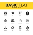 basic set security icons vector image