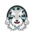 beard dog mascot vector image vector image