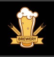 beer glass mug icon for brewery bar pub or vector image vector image