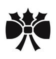 bow ribbon icon vector image