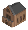 brown church house icon isometric style vector image vector image